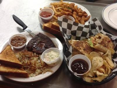 Sandwiches and Steak Dinner